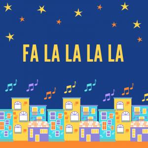 Chanson : Fa la la la la pour chanter avec les enfants. Paroles avec version pour carnet de chants.