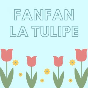 E, avant fanfan la tulipe, en avant la tulipe en avant !  Paroles et partition  de la chanson à coller par l'enfant dans un cahier de chants.