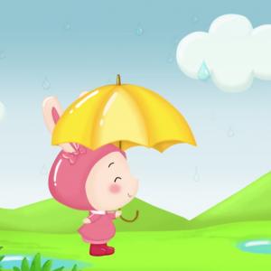 comptine Flic, flac, floc, la chanson de la pluie à regarder et écouter