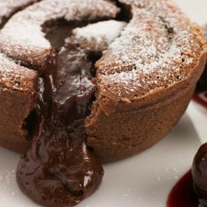 fondant chocolat noir