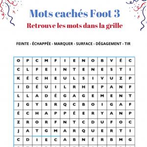 Foot : mots cachés grille 3