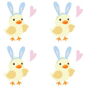 Petites décorations de Pâques colorées à imprimer et découper - les décorations peuvent être accrochées par les enfants pour les décorations de Pâques