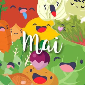 Liste des fruits et légumes de saison en mai : Consommer des fruits et légumes de saison c'est bon pour l'environnement mais aussi pour vous ! Blette, radis et fève : retrouvez notre jolie liste des fruits et légumes de mai. Vous pourrez même l'imprimer e