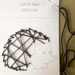 Un gabarit à télécharger et imprimer pour vous aider à réaliser le hérisson en fils tendus