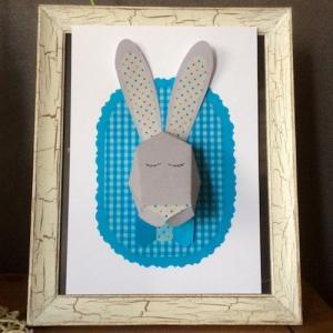 DIY - Réaliser un cadre trophée de monsieur et madame lapin grâce à notre printable