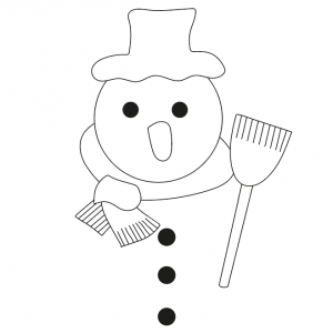 Imprimer le gabarit de la tête du bonhomme de neige pour vos aider à fabriquer un bonhomme de neige en papier