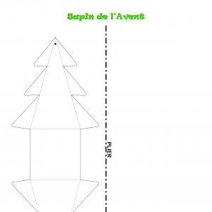 Le gabarit du petit sapin de Noël en papier à télécharge et à imprimer gratuitement