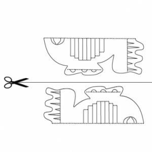Un poisson à imprimer et à colorier pour une carte kirigami. Il peut servir pour une activité sur le thème de la mer ou du 1er avril. coloriage gratuit