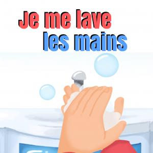 """""""Je me lave les mains"""" est une chanson pour enfants pour leur apprendre à se laver les mains. Retrouvez des infos sur cette comptine à gestes, les paroles complètes et les gestes traditionnellement effectués en vidéo. Vous pourrez aussi imprimer la fiche"""