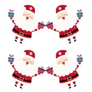 Image de Noel gratuite : 4 grandes images de Père Noël à imprimer pour les activités enfant