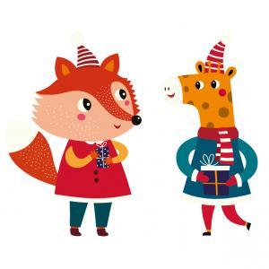 Image de Noël : Animaux de Noël à imprimer afin de les utiliser pour vos activités et bricolages de Noël. Ces mignons petits personnages seront parfaits pour vos créations avec vos enfants.
