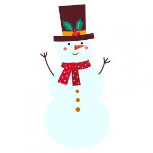 Image de Noël : bonhomme de neige de Noël. Imprimez et découpez ces bonhommes de neige afin de les utiliser dans les activités de Noël avec les enfants.