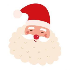 Image de Noel gratuite : Imprimez des imagettes du Père Noël . En imprimant les images sur une feuille autocollante vous transformerez ces images de Noel en autocollants de Noel.