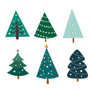 Image de Noel gratuite : Les enfants adorent les images de Noel, voici de grandes images de sapin de Noel à imprimer pour le découpage et le bricolage.