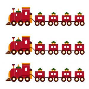 Image de Noel gratuite : Image d'un train de Noël à imprimer pour les activités de Noël