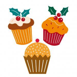 Image de Noël : gâteaux de Noël : Mélange d'images de Noël à imprimer, totalement gratuites et appartenant à 100% à Tete a modeler