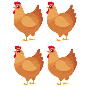 Image Paques a imprimer : image de poules  à imprimer pour les décorations dans la maison