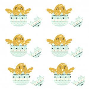 Imprimer une image de Pâques :poussin dans son oeuf de Pâques - une image de Pâques à imprimer pour les décorations dans la maison