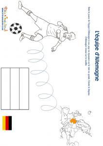 Jeu joueur equipe d'Allemagne son pays et son drapeau