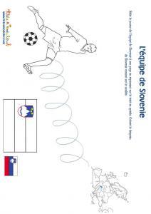 Jeu joueur equipe de Slovenie son pays et son drapeau