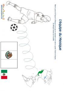 Jeu joueur equipe du Mexique son pays et son drapeau