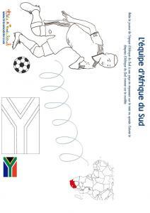 Jeu joueur equipe d'Afrique du Sud son pays et son drapeau