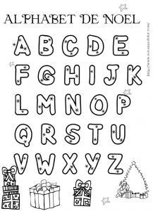 Coloriage Lettres Alphabet Maternelle.Coloriages De Lettres Et Alphabets De Noel A Colorier Tete A Modeler