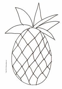 coloriage d'un ananas