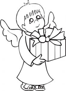 Ange au gros cadeau