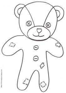 Coloriage de l'ours 2 animal patchwork