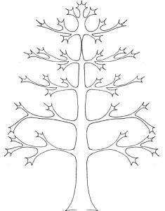 Coloriage d'un arbre de vie graphique vierge