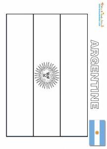 Drapeau argentine à colorier