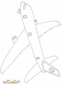 Avion Dessin Coloriage Avion Avec Tête à Modeler