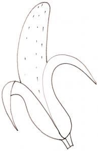 coloriage d'une banane
