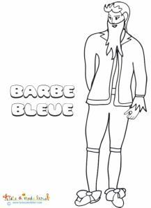 Dessin de Barbe Bleue à colorier