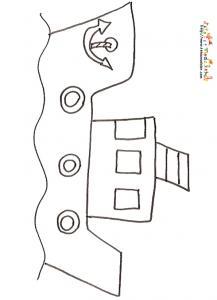 Coloriage Bateau Dessin Bateau A Imprimer Avec Tete A Modeler