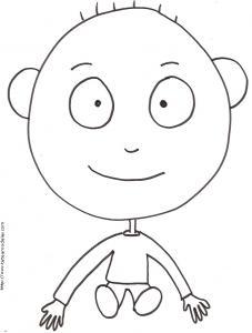 Coloriage de Bill assis, un dessin à imprimer pour le coloriage
