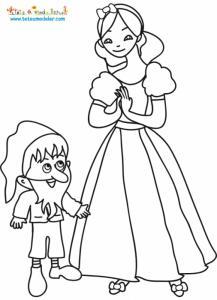 Blanche Neige et le nain