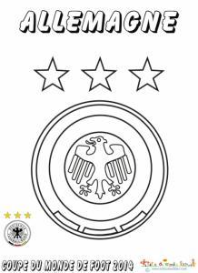 Coloriage du blason de foot d'Allemagne