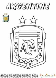Coloriage du blason de foot d'Argentine