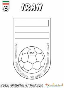 Coloriage du blason de foot d'Iran