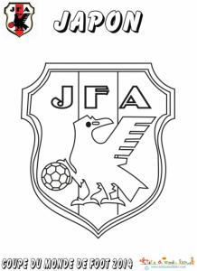 Coloriage du blason de foot du Japon