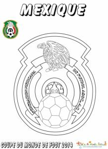 Coloriage du blason de foot du Mexique