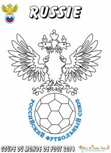 Coloriage du blason de foot de Russie