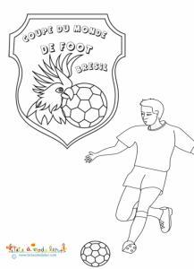 Coloriage mondial de foot Brésil