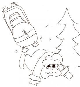 Chute en bobsleigh