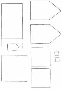 Modèles pour petites maisons de Noël