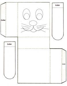 boîte tête de lapin de Pâques à imprimer