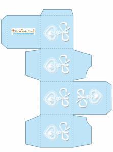 Boite bleue décoration médaille