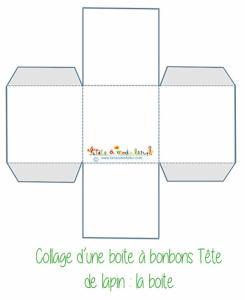 Modèle de boite carrée simple